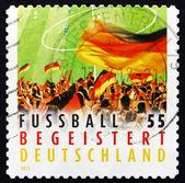 Postage stamp Germany 2012 Crowd Waving Flag — Stock Photo