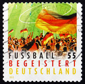 Postage stamp Germany 2012 Crowd Waving Flag — ストック写真