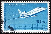 Postage stamp France 1965 Jet Plane, Mystere Falcon-900 — Stock Photo
