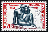 Postage stamp France 1961 Mediterranean, by Aristide Maillol — Stock Photo
