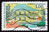 Postage stamp France 1998 Sous-Prefecture Hotel, Reunion — Stock Photo