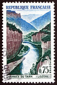 Postage stamp France 1965 Tarn Gorge, Lozere Mountains — Stock Photo