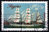 Postage stamp France 1999 Sagres, Portuguese Sailing Ship — Stock Photo