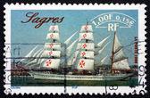 Postage stamp France 1999 Sagres, Portuguese Sailing Ship — Stock Photo