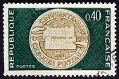 Postage stamp France 1968 Commemorative Medal — Stock Photo