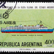 Postage stamp Argentina 1978 Passenger Ship Ciudad de Parana — Stock Photo