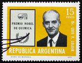 Postage stamp Argentina 1976 Luis F. Leloir, Physician — Stock Photo