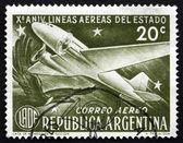 Postage stamp Argentina 1951 Douglas DC-3 and Condor — Stock Photo