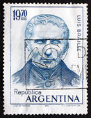 Postage stamp Argentina 1976 Louis Braille, Educator and Invento — Stock Photo