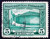 Postage stamp Paraguay 1945 Birthplace of Paraguay's Liberation — Stock Photo