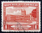 Postage stamp Paraguay 1946 Government House — Stock Photo