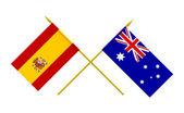 Drapeaux, espagne et australie — Photo