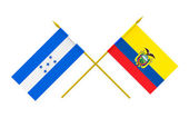Flags, Honduras and Ecuador — Stock Photo