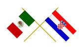 Flags, Croatia and Mexico — Photo