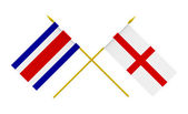 Flags, England and Costa Rica — Zdjęcie stockowe