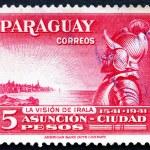 Postage stamp Paraguay 1942 Domingo Martinez de Irala, Spanish C — Stock Photo #48039437