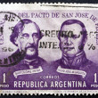 Postage stamp Argentina 1959 Treaty of San Jose de Flores — Stock Photo #48039835