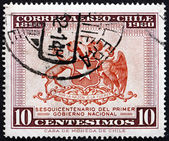 Postage stamp Chile 1960 Coat of Arms of Chile — Stock Photo