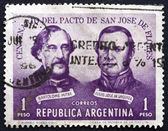 Postage stamp Argentina 1959 Treaty of San Jose de Flores — Stock Photo