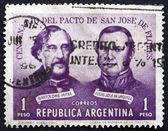 Postage stamp Argentina 1959 Treaty of San Jose de Flores — Stock Photo