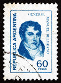 Postage stamp Argentina 1977 Manuel Belgrano — Stock Photo
