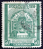 Postage stamp Paraguay 1946 Colonial Jesuit Altar — Stock Photo