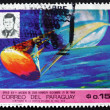 Postage stamp Paraguay 1969 Apollo 8 and John F. Kennedy — Stock Photo #48151473