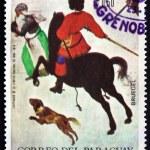 Постер, плакат: Postage stamp Paraguay 1968 Winter Scene by Pieter Brueghel the