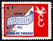 Postage stamp Paraguay 1961 Europa Symbol, Peace — Stock Photo