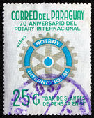 Postage stamp Paraguay 1976 Rotary International Symbol — Stock Photo