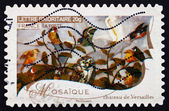 Postage stamp France 2009 Mosaic, Works of Fine Art — Stock Photo