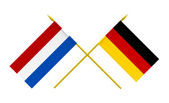 Flags, Germany and Netherlands — Stock Photo