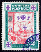 Postage stamp Paraguay 1933 Caravels of Columbus — Stock Photo