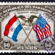 Postage stamp Paraguay 1939 US Eagle and Shield — Stock Photo #48376753