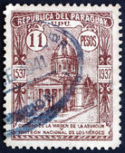Postage stamp Paraguay 1938 Oratory of the Virgin, Asuncion — Stock Photo
