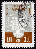 Postage stamp Paraguay 1960 World Refugee Year Emblem — Stock Photo