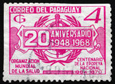 Postage stamp Paraguay 1968 WHO Emblem — Stock Photo
