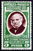 Postage stamp Paraguay 1940 Sir Rowland Hill — Stock Photo
