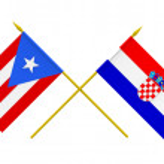Flags, Croatia and Puerto Rico — Stock Photo