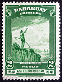Postage stamp Paraguay 1942 The Indian Francisco — Stock Photo