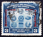 Postage stamp Paraguay 1939 Coat of Arms — Stock Photo