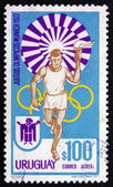 Postage stamp Uruguay 1972 Torchbearer — Stock Photo