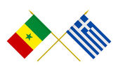 Flags, Greece and Senegal — Stock Photo