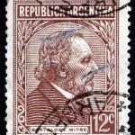 Постер, плакат: Postage stamp Argentina 1935 Bartolome Mitre Argentine Statesma