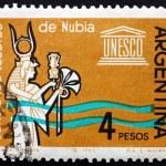 Постер, плакат: Postage stamp Argentina 1963 Queen Nefertari