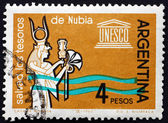 Postage stamp Argentina 1963 Queen Nefertari — Stock Photo