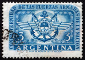Postage stamp Argentina 1955 Army, Navy and Air Force Emblems — Stock Photo