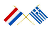 Flags, Netherlands and Greece — Stock Photo