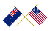 Flags, USA and New Zealand — Stock Photo