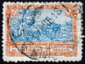 Postage stamp Uruguay 1918 Liberty Extending Peace — Stock Photo